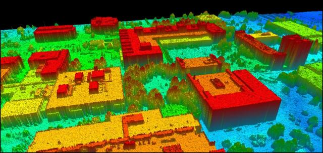 Lidar  over RIT's campus