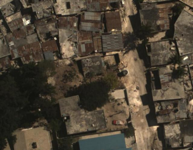 WASP image over Haiti that captures the devastation
