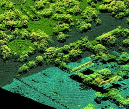 A birds-eye view of the Haitian palace: A LiDAR point cloud of the Haitian palace - note the detailed structure